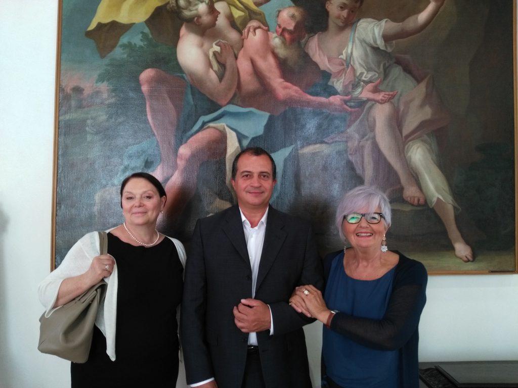 La responsabile PLIDA di Roma, Silvia Giugni, l'Assessore alla Cultura Donzelli e la nostra Presidente Mirella Rigobello