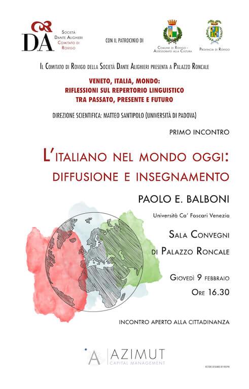 L'italiano nel mondo oggi: diffusione e insegnamento