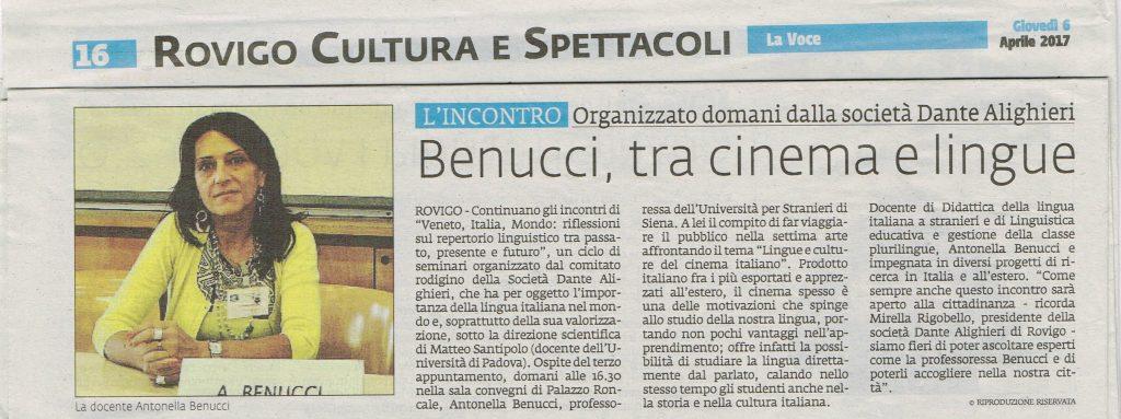 Articolo Benucci la Voce