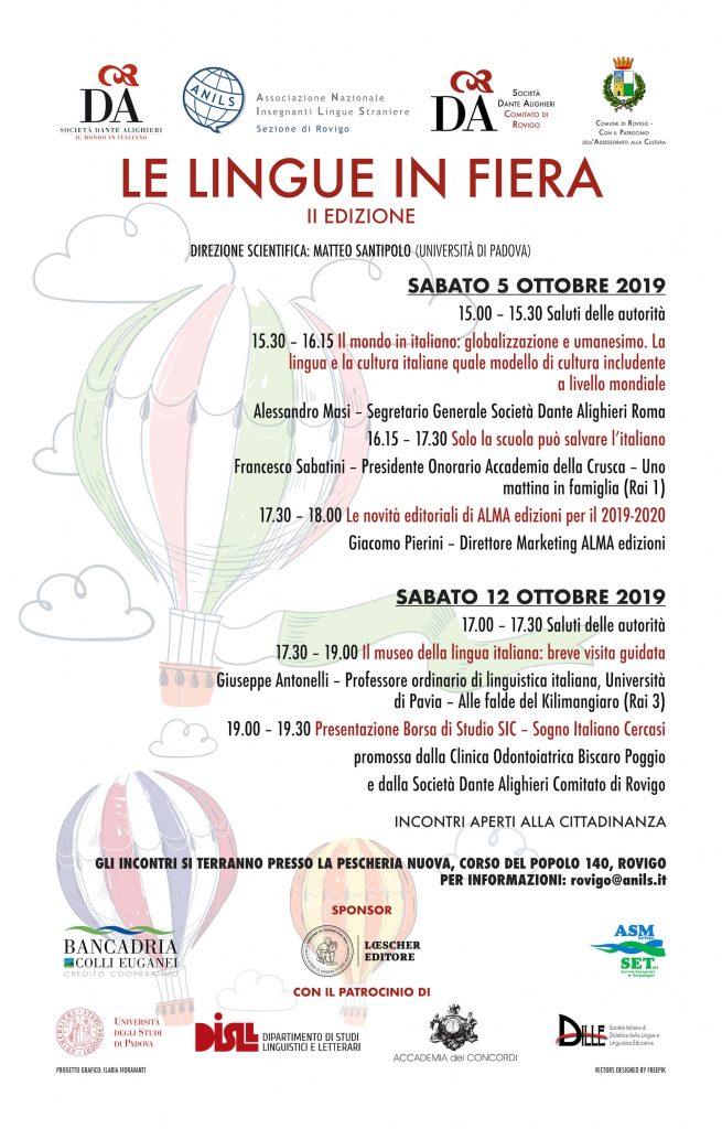 la dante_lingue in fiera 2019_locandina